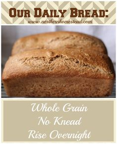 Our Daily Bread - Whole Grain, No Knead, Rise Overnight - Simple and Yummy!!!