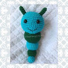 Caterpillar, Cotton, Crochet Caterpillar, Caterpillar Rattle, Boy Rattle, Girl Rattle, Crochet Bug, Bug Rattle, Caterpillar Crochet Rattle by SewFancyCrochet on Etsy https://www.etsy.com/listing/277850794/caterpillar-cotton-crochet-caterpillar