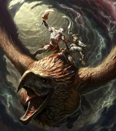 Griffin Rider Battle from God of War II