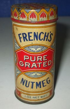 Vintage French's Pure Grated Nutmeg Tin