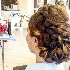 Brided hairstyle Hairstyle, Beauty, Hair Job, Hair Style, Hair Looks, Cosmetology, Hairdos, Updo, Style Hair