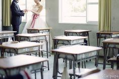 お2人の出会った母校で*学校前撮り | *elle pupa blog*