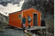 #greatwalker Barker Hut at the headwaters of the Waimakariri River 2 friends and I on a climbing trip.