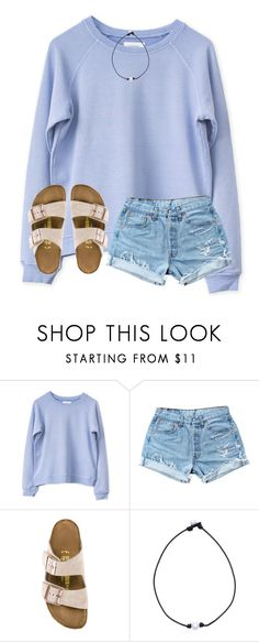 """body like a backroad (:"" by arieannahicks ❤ liked on Polyvore featuring Levi's and Birkenstock"