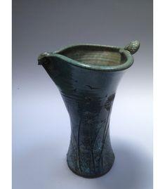 Love Bird Tall Raku Vase. John O'Riain - The Cat and the Moon Irish Pottery, Glass Ceramic, Love Birds, Stoneware, Artisan, March, Moon, Vase, Ceramics