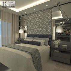 "524 Likes, 11 Comments - DANIEL KROTH Arquitetura (@danielkroth) on Instagram: ""Dormitório do Casal por #DanielKrothArquitetura #dkarquitetura #projeto #dormitorio…"""