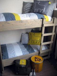 adorable boys bedroom - love the rustic chic bunk beds.