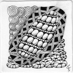 Zentangle vom 21. Dezember 2014 Patterns: Purk, Vega, Printemps, Festune