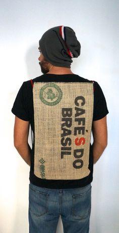 "Zaino cycling backpack ECO Modello: ""CafèS do Brasil"""