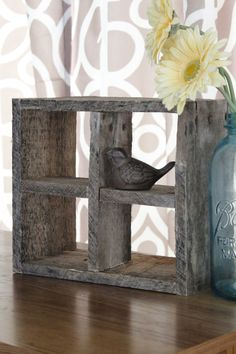 Rustic Reclaimed Wood Shelf by brandnewtome on Etsy, $30.00