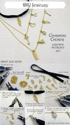 Make your own DIY Charming Choker Layered Necklace Set following this easy tutorial. Michaels has all the beading and jewelry supplies you need to make your style necklaces, bracelets and more!