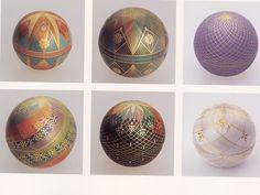 More Kirikane balls Japanese Design, Japanese Art, Heian Period, China Painting, Resin Crafts, Asian Art, Fabric Patterns, Glass Art, Arts And Crafts