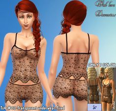 Sims 4 CC's - The Best: Underwear by Daweesims Sims 4 Cas, Sims 1, Maxis, The Sims 4 Packs, Transparent Clothes, Sims 4 Cc Skin, Sims 4 Characters, Crop Top Hoodie, Hair