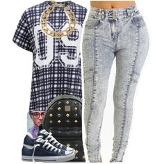 Finders Keepers t-shirts, Converse sneakers and MCM backpacks. Browse and shop related looks.