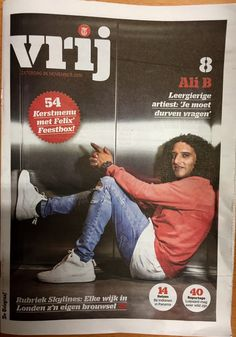 VRIJ magazine, De Telegraaf, November 2016 Ali B © Andreas Terlaak 26 November, My Portfolio, Ali, Baseball Cards, Sports, Sport, Wings