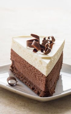 Triple Chocolate Mousse Cake. This triple-decker confection is a perfect 10.