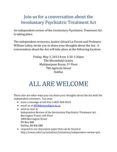 An independent review of the Involuntary Psychiatric Treatment Act Fundraising Events, Acting, Thoughts, Health, Salud, Health Care, Healthy, Smoke, Tanks