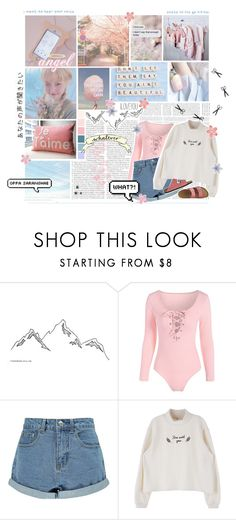 """""""I can't cover up my heart. // comment celebration ideas♡"""" by delicatekissestoloki ❤ liked on Polyvore featuring GET LOST, Boohoo, TravelSmith, kpop, wendy, sistar, redvelvet and sonSeungwan"""