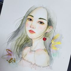 office website: www.wahahafactory.com #訂製畫 #illustration #portrait  #illustrator #maysum #artcustommade #watercolor Illustrator, Watercolor, Website, Portrait, Drawings, Anime, Art, Pen And Wash, Sketches