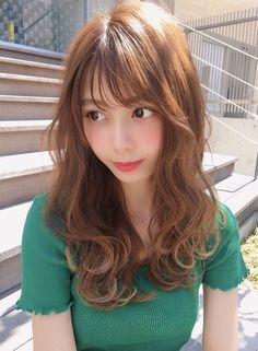 Medium Hair Styles, Long Hair Styles, Fantasy Costumes, Hair Designs, Japanese Girl, Asian Woman, Girl Hairstyles, Asian Beauty, Hair Color