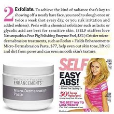 Exfoliate and get rid of blackheads with R+F MD paste. As seen in Self magazine. #skincare #RodanandFields #exfoliate