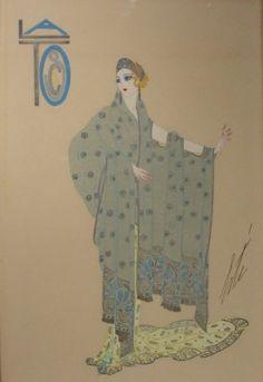 ERTÉ | Ganna Walska en Tosca, acto II, Chicago Opera Company, 1920