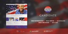 Download and review of CANDIDATE | Political Campaign, Wordpress Theme, one of the best Themeforest Non-profit themes
