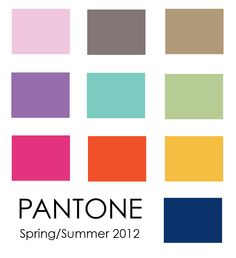 so Pantone says these are the hot spring/summer colors for 2012...I don't know... I'm seeing a lot of bright blues and bright greens in addition to the hot pink and orange they have...