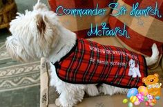 These coats are on Etsy and all the money goes to Westie Rescue. You even get your westie's name on it.