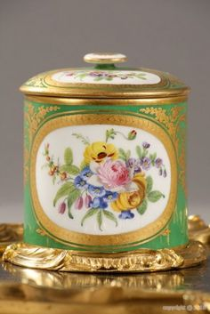 detail of Sevres pot
