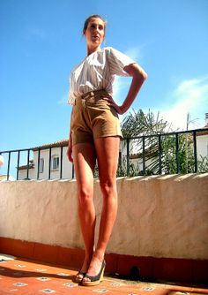 high waisted waist shorts 80s vintage suede leather size 10 38 small 90s beige