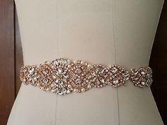 Wedding-Dress-Sash-Belt-Rose-Gold-Crystal-Pearl-Sash-Belt-14-1-2-long