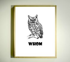 Grammar Police Owl! This design has a white background and black/gray graphics. WHAT YOU CAN DO WITH THIS IMAGE:  ** Print at home, online, or at a local printer ** Add a frame for an instant gift ** Use in your own creative projects YOU WILL RECEIVE: ** Yummy design exclusive to Letterbox Studio. ** Sharp, high-resolution jpg image -- 8 x 10 size (approx. 20 x 25 cm)--can be enlarged or reduced. ** You will not receive a physical print.  SAVE WHEN YOU BUY MULTIPLES! ** Buy 2, save 30%. ...