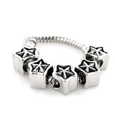Pugster Pointed Star Quintet Beads Fits Pandora Charm Bracelet: Show Your Friends A New Twist On Your Plated… #CheapJewelry #DesignerJewelry