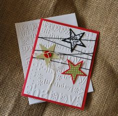 Handmade Greeting Card: Handmade Birthday Card, Teen Card, Childrens Birthday, Masculine, Stars