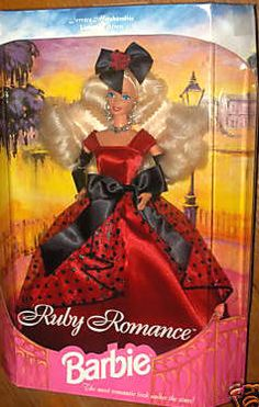 1995 RUBY ROMANCE BARBIE DOLL SERVICE MERCHANDISE RUBY ROMANCE