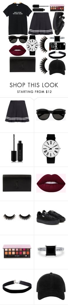 """Kanye feelings with a Drake attitude"" by puffer112 ❤ liked on Polyvore featuring Yves Saint Laurent, Marc Jacobs, Rosendahl, Puma, Anastasia Beverly Hills, BERRICLE, Miss Selfridge and rag & bone"