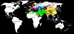 Gli Arcani Supremi (Vox clamantis in deserto - Gothian): Mappa storica del mondo nell'anno 820 d.C.
