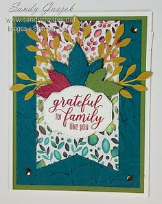 This card was inspired by the August 2019 Paper Pumpkin Kit - The Gift of Fall - from Stampin' Up! and feature the multicolored tag piece from the kit and leaves cut using the Gathered Leaves Dies. Thanksgiving Cards, Christmas Cards, Stampin Up Paper Pumpkin, Pumpkin Cards, Stamping Up, Stampin Up Cards, Red Roses, Card Ideas, Diy And Crafts