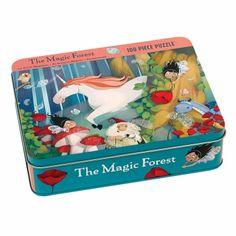 Puzzle 100 elementów Mudpuppy  Magiczny las