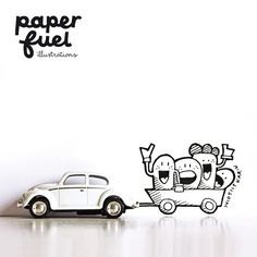 On the road! #illustration #drawing #paperfuel