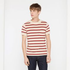 Tomorrows Jumper in Wool and Silk stripe by Sandro