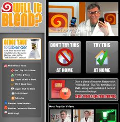 'Will it blend?' was a marketing viral campaign showcasing the power of Blendtec blenders. The youtube videos went through different things to try and blend each work some which were safe to try at home and some which were not. The videos were shared by millions and now the company even sells 'will it blend?' merchandise.
