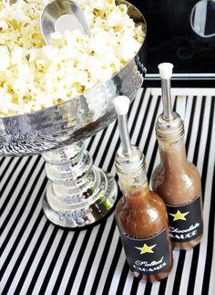 Oscars Viewing Party: DIY Popcorn & Champagne Bar - BirdsParty.com