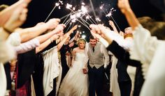 25 perfect finishing touches for your dream winter wedding - sparkler exit
