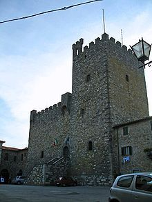 the rocca (castle) in castellina.... italy