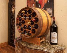 1/2 Wine Barrel Wine Rack (18 bottle capacity) http://www.barrelrack.com