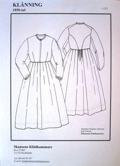 Om mönster och material till gammaldags kläder. | Skansen i Stockholm