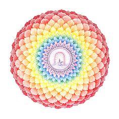 Dit is het zevende -Kruin-  chakra, de verbinding tussen jezelf en het universum, de goddelijke bron.