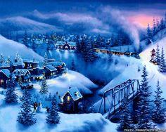 Winter Snow Night Christmas (id: 79549) - BUZZERG
